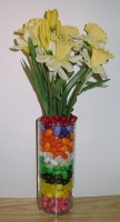 daffodils, jelly beans