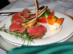 Roasted Rack of Lamb with Herb-Dijon Nut Crust